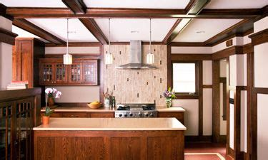 prairie style homes interior wood trim architecture