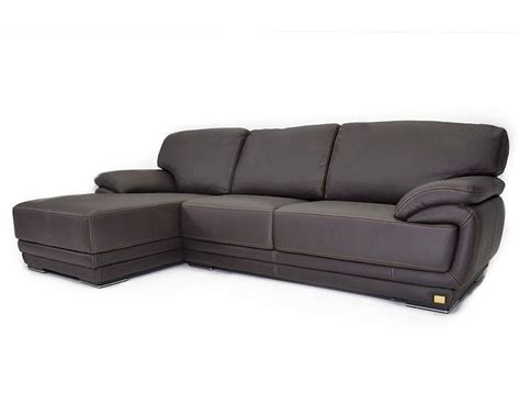 Italian Sectional Sofas by Italian Brown Leather Sectional Sofa 44l6112 G