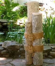 Set two 48 034 high wood marine pilings nautical coastal decor ebay