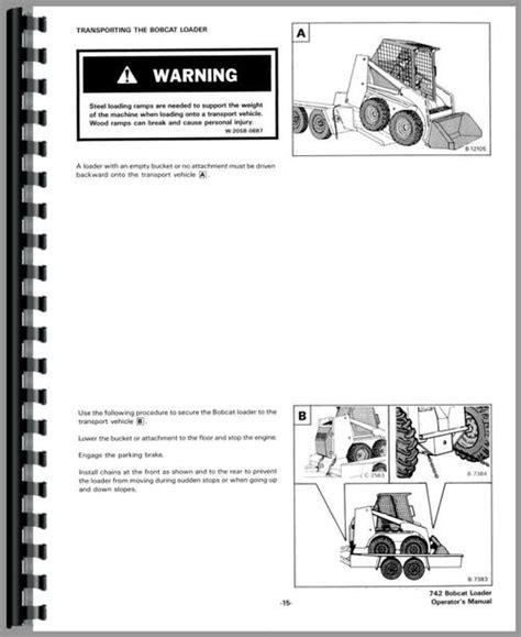 Bobcat 742 Skid Steer Loader Operators Manual