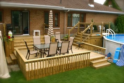 Patio Ideas Above Ground Pool Cool Above Ground Pools With Decks Modern Backyard