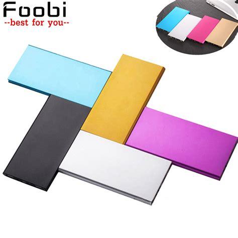 ultra thin mobile foobi power bank 20000 mah metal shell