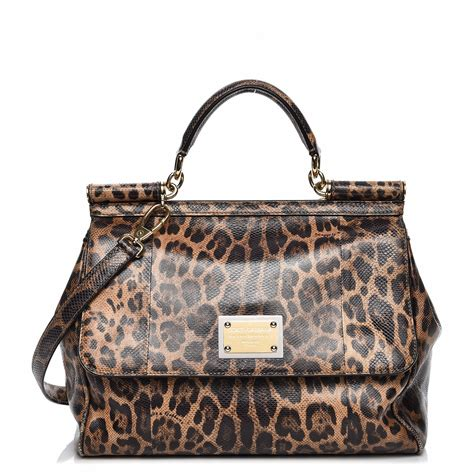 Dg Dolce Gabbana Oversized Nautical Tote by Dolce Gabbana Embossed Calfskin Leopard Print Large Miss