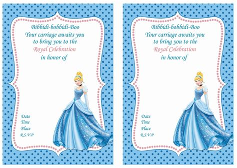 cinderella invitation to the template cinderella birthday invitations birthday printable