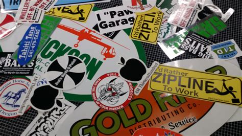 Printed Sticker sticker and decal screen printing in medford grants pass
