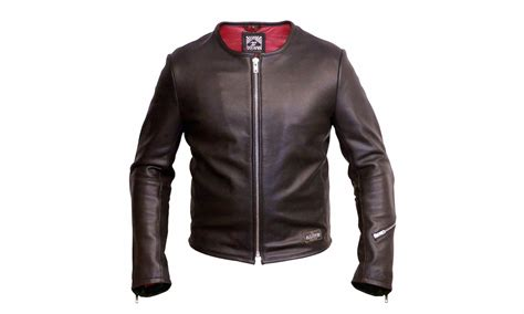 perforated leather motorcycle 1 4 mile leather jacket by angry lane