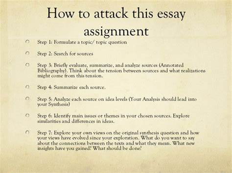 how to write a synthesis paper synthesis essay presentation