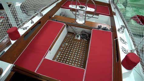boat cockpit step box how to make cockpit cushions box cushions youtube