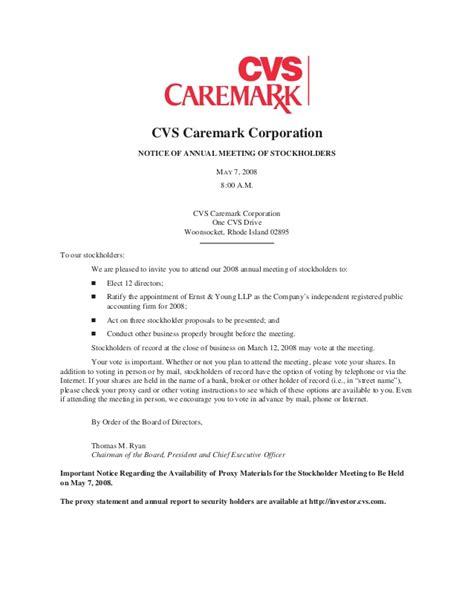 Cvs Caremark 2008 Proxy Statement Minute Clinic Doctors Note Template
