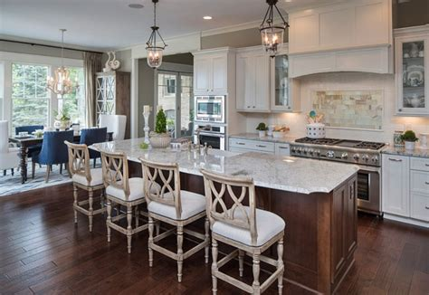 L Shaped Kitchen Islands With Seating by Beautiful Family Home With Open Floor Plan Home Bunch