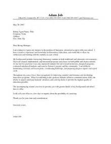 cover letter for mba admission sle letter application writing