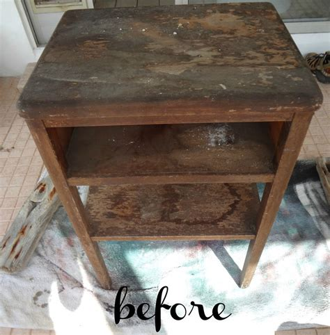 chalk painted end tables side table transformation