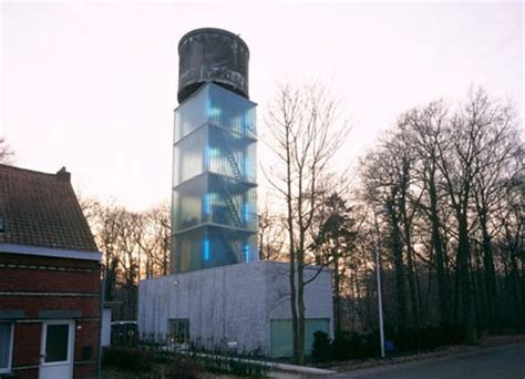 bare bones water tower fleshed out into a 5 story house