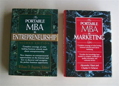 Portable Mba Book by Portable Mba Business Book Lot B21 Mba In Marketing Mba In