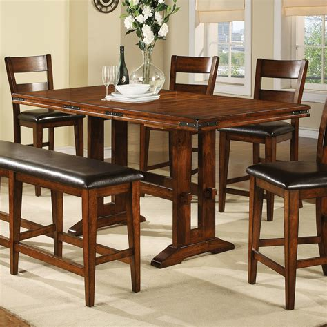 counter height dining table sets with butterfly leaf winners only mango counter height dining table with 18 in
