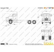 The Blueprintscom  Vector Drawing Kenworth T800