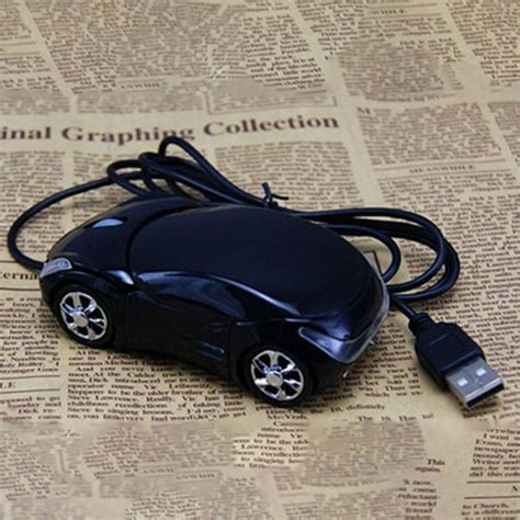 Pink Car Mouse With Led Headlights by 1600dpi Mini Car Shape Usb Optical Wired Mouse Innovative
