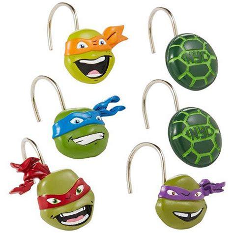 turtle shower curtain hooks nickelodeon teenage mutant ninja turtles shower curtain