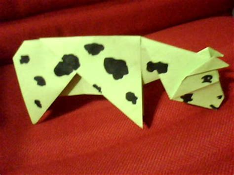 How To Make An Origami Cow - origami cow photos