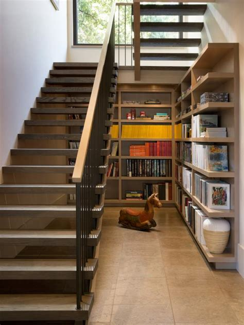 under stairs library design 12 creative ways to use the space your stairs room makeovers to suit your hgtv