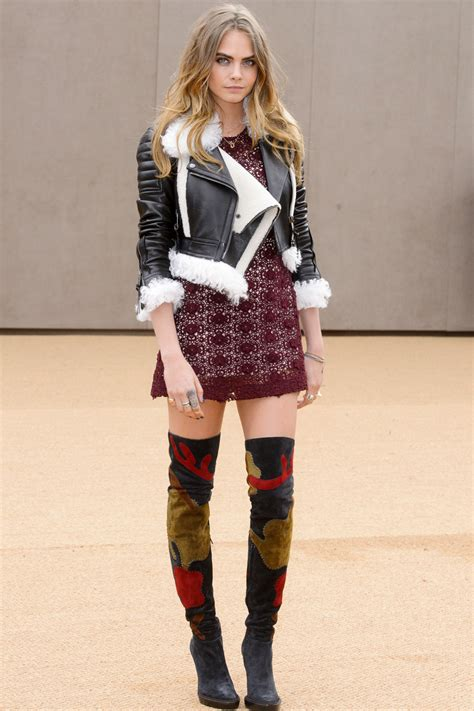 The Burberry Prorsum Dress Worn By Kate Moss Watts And Hathaway by Kate Moss Cara Delevingne And Cbell Attend The
