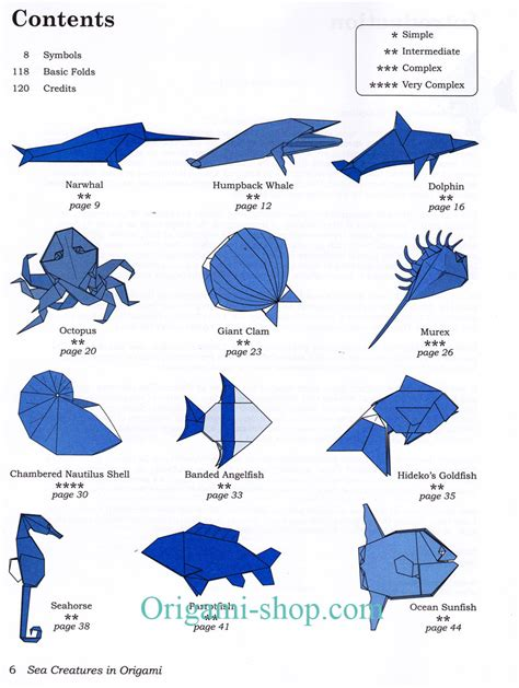 Origami Sea - easy origami animals comot