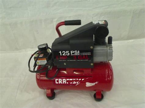 craftsman 3 gallon air compressor craftsman 3 gallon 1 hp 125 psi air compressor ebay