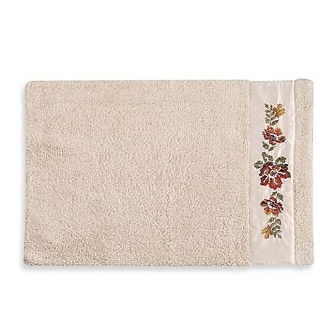 Croscill 174 Mosaic Floral Bath Rug Bed Bath Beyond Croscill Bathroom Rugs