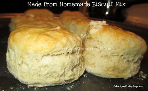 Handmade Biscuits - recipes for my boys biscuit mix