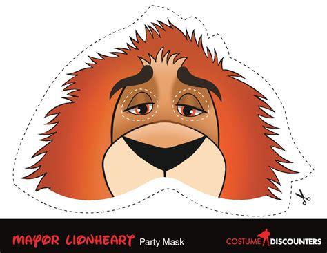 D Select 001 Zootopia mayor lionheart 手作り ディズニー映画 zootopia ズートピア マスク しおり 塗り絵等diyハンドメイド naver まとめ