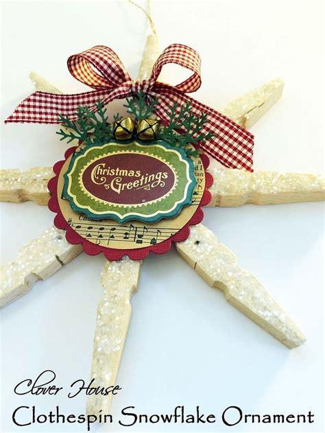 clothespin snowflake ornament hometalk