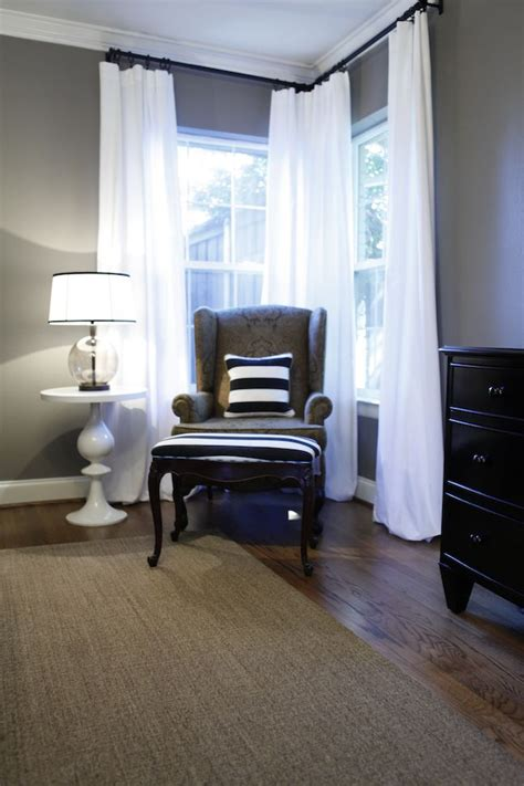 black bedroom furniture what color walls best 25 corner curtains ideas on pinterest corner