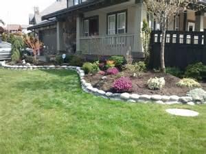 Landscape Stone Edging by River Rock Garden Edge Srp Enterprises Weblog