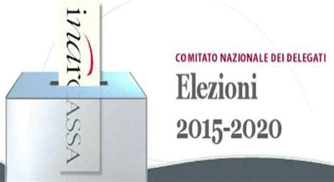 rinnovo cassetto fiscale elezioni inarcassa i delegati eletti per il quinquennio