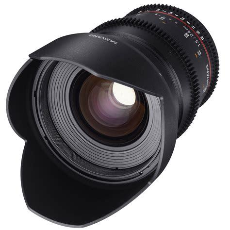 samyang 24mm t1 5 vdslrii cine lens for canon ef mount