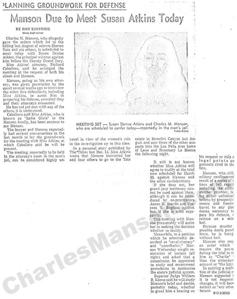 Susan Atkins... (Convicted) | Charles Manson - The True Story