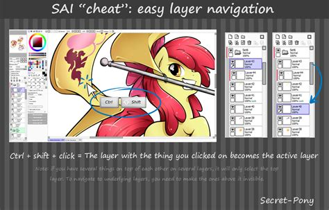 paint tool sai one layer tutorial mini tutorial easy layer navigation in sai by secret pony