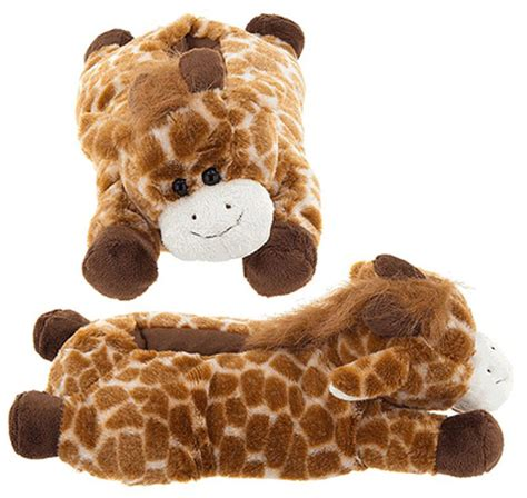 giraffe slippers uk wishpets or children size giraffe animal soft