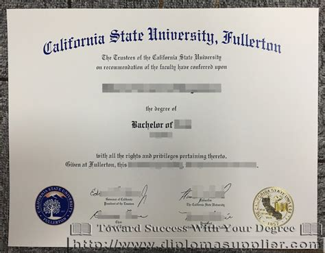 Cal State Fullerton Mba Program by Buy A Aqa Gce Certificate From Uk