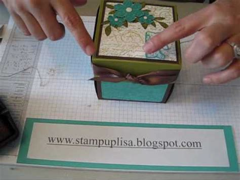 explosion box tutorial start to finish part 2 inside outside and lid of explosion box part 3 stin