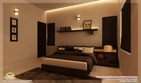 Interior Bedroom Designs Beautiful Home Interior Designs Kerala Home