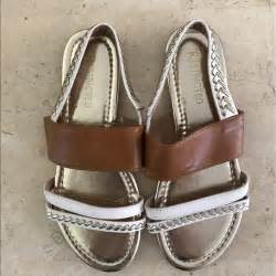 restricted sandals 60 restricted shoes gold and silver slip on