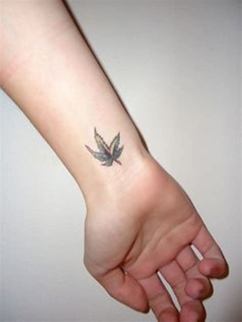 small weed tattoos 43 awesome leaves wrist tattoos