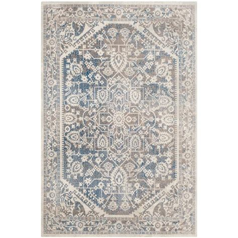 blue rugs 6 safavieh patina gray blue 4 ft x 6 ft area rug ptn318a 4 the home depot