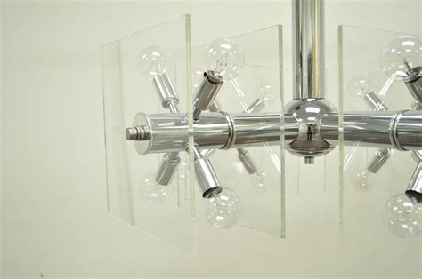 chrome orb chandelier mid century modern chrome and lucite sputnik orb