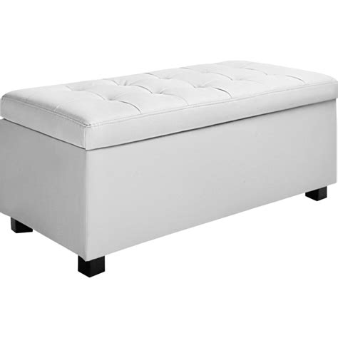 white leather ottoman storage large storage ottoman bench white pu leather 102cm buy
