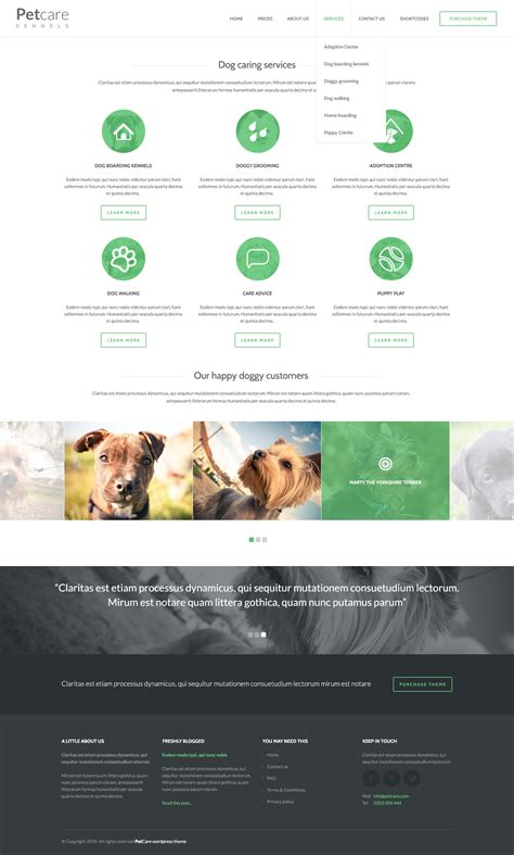 website templates for kennels pet care dog kennels html by kleverthemes themeforest