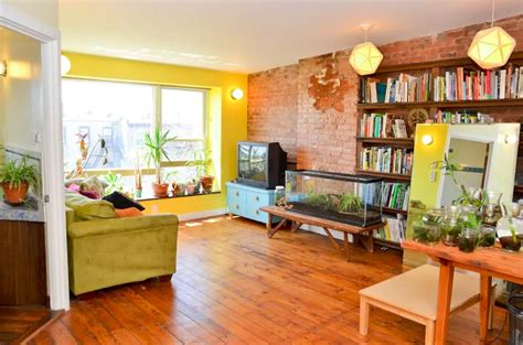 living room in brooklyn brooklyn eco triplex with natural swimming pool and