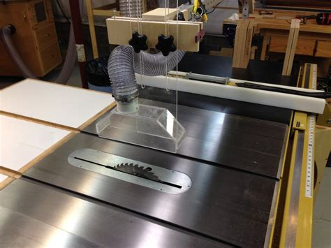 diy table saw dust collector table saw overhead dust collection by paulfromvictor
