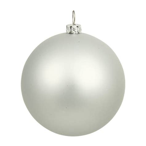vickerman 196724 silver colored christmas tree ball ornament